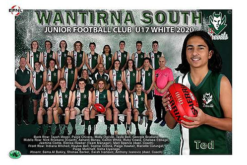 Wantirna South Football Club Team Photo With Individual Player Portrait