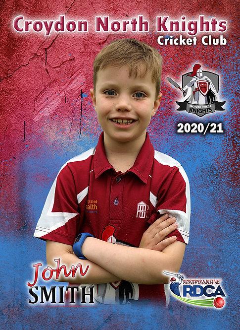 Croydon Nth Set of 6 Cricket Player Cards