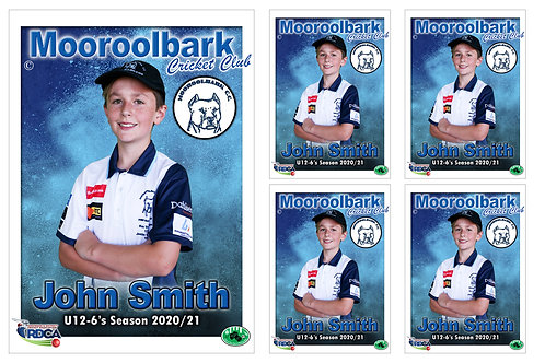 Mooroolbark Cricket Player Portrait – 5 in 1 Pack