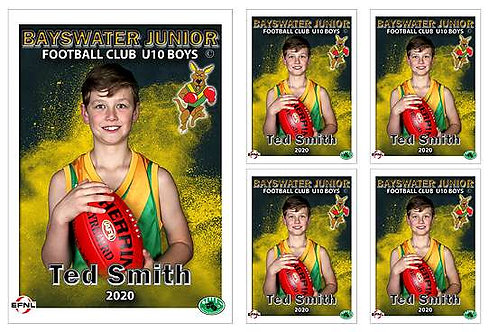 Bayswater Football Club Player Portrait – 5 in 1 Pack