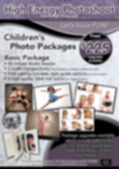Childrens high energy photo package A4 f