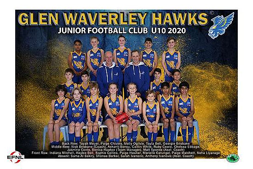 Glen Waverley Hawks Football Club Team Photo