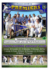 Templestowe Vets Div C Poster in border-