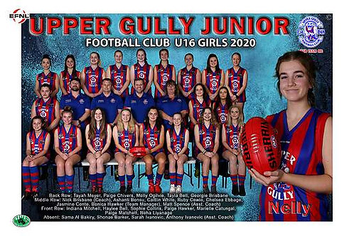 Upper Gully Football Club Team Photo With Individual Player Portrait