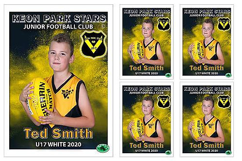 Keon Park Football Club Player Portrait – 5 in 1 Pack
