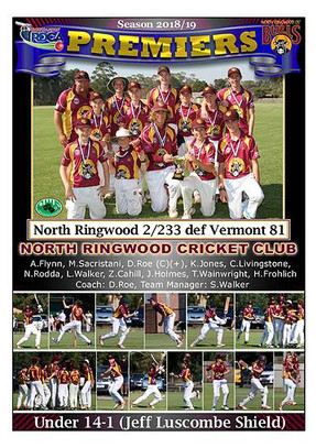 North Ringwood U14-1 GF Poster in border