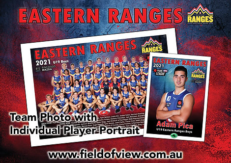 Eastern Ranges Team Photo With Individual Player Portrait