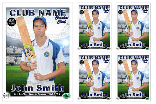 East Ringwood Cricket Player Portrait – 5 in 1 Pack