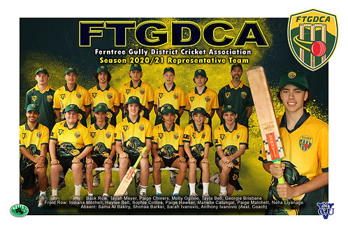 FTGDCA Cricket Team Photo With Individual Player Portrait