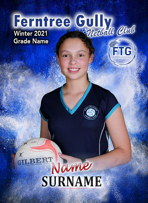 Set of 6 Netball Player Cards