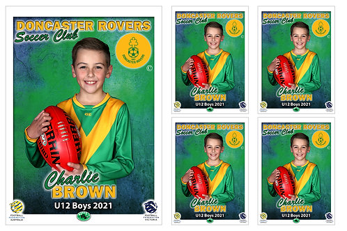 Soccer Club Player Portrait – 5 in 1 Pack