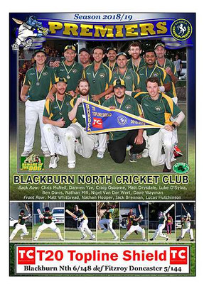 Blackburn Nth Topline T20 Poster in bord