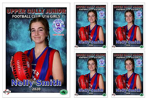 Upper Gully Football Club Player Portrait – 5 in 1 Pack