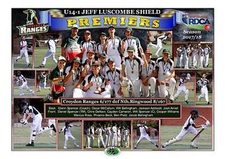 RDCA U14 1 Croydon Ranges Poster A2 in b