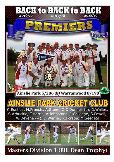 Masters Div 1 Ainslie Park GF Poster in