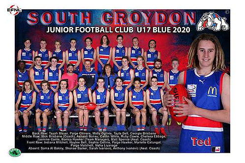 Sth Croydon Junior Football Club Team Photo With Individual Player Portrait