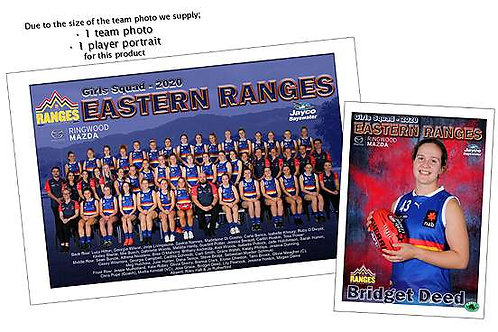 Eastern Ranges Football Club Team Photo With Individual Player Portrait