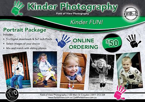 Kinder Portrait Pack = 5 Prints