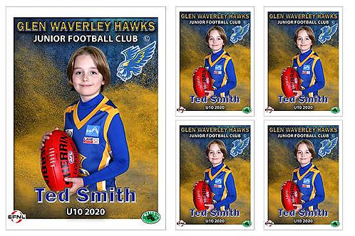 Glen Waverley Hawks Football Club Player Portrait – 5 in 1 Pack
