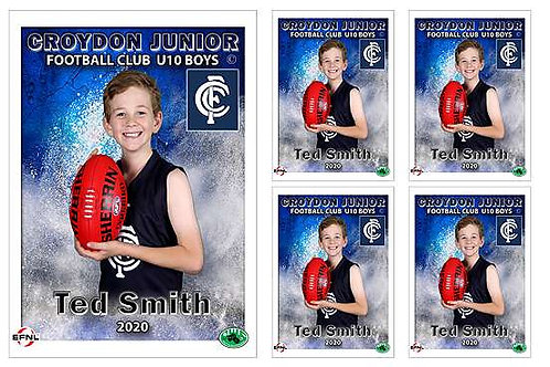 Croydon Football Player Portrait – 5 in 1 Pack