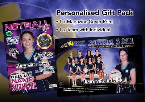 Netball Personalised Gift Pack