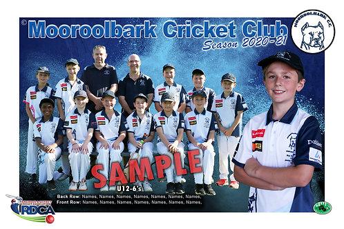 Mooroolbark Cricket Team Photo With Individual Player Portrait