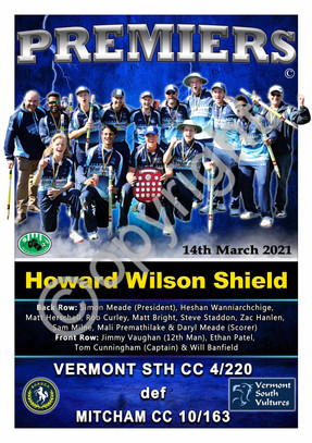BHRDCA Howard Wilson Shield A2 PREMIER P