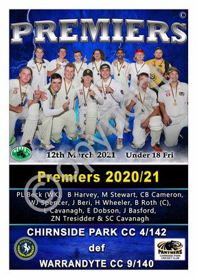 BHRDCA Chirnside Park U18 Friday Night P