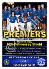 BHRDCA U16A Ron Hennessey Shield A2 PREM