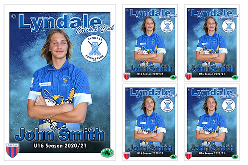 Lyndale Cricket Player Portrait – 5 in 1 Pack