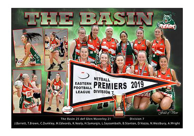 The Basin Netball  Division 7 in border-
