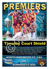 RDCA U12'1s Nth Ringwood GF A2 Premiers