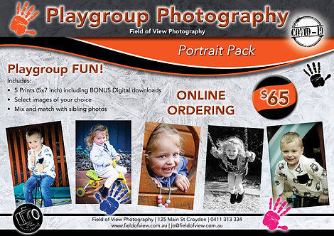 Playgroup Portrait Pack = 5 Prints