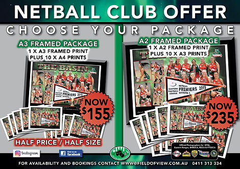 Netball A3/A2 Framed Club Offer