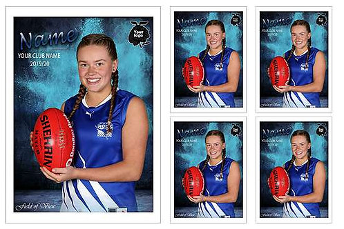 East Burwood Junr Football Club Player Portrait – 5 in 1 Pack