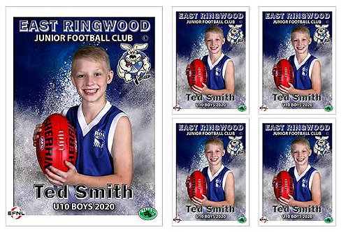 East Ringwood Football Club Player Portrait – 5 in 1 Pack