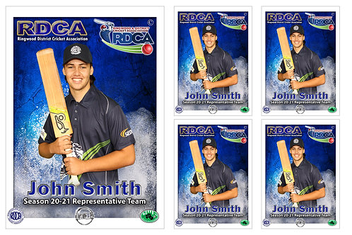 RDCA Cricket Player Portrait – 5 in 1 Pack
