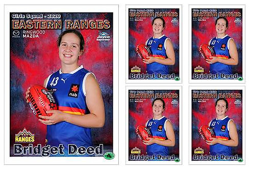 Eastern Ranges Football Club Player Portrait – 5 in 1 Pack