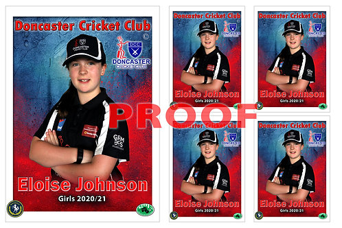 Doncaster Cricket Club Player Portrait – 5 in 1 Pack