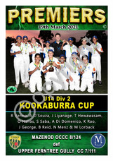 FTGDCA U14 Div 2 Kookaburra Cup Mazenod