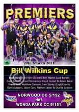 Bill Wilkins Cup Seniors Premier poster.