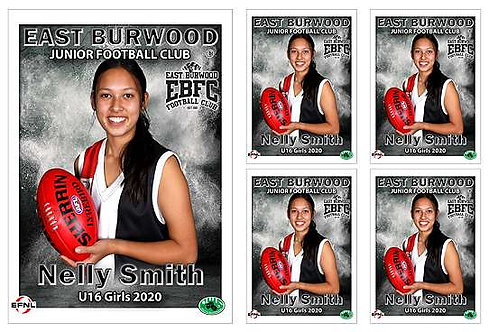 East Burwood Football Club Player Portrait – 5 in 1 Pack