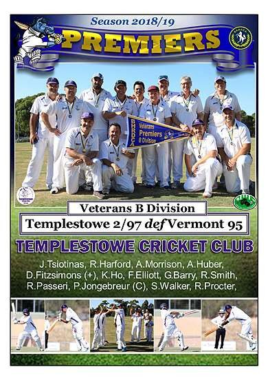 Templestowe Vets Div B Poster in border-