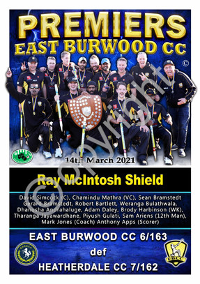 BHRDCA East Burwood Ray McIntosh Shield