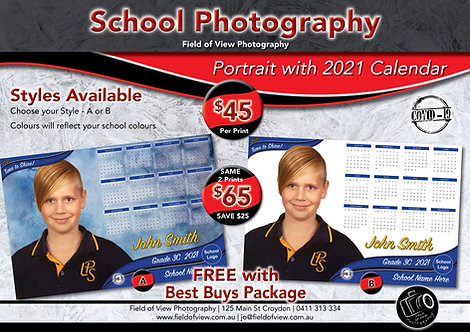 Student Portrait with Calendar