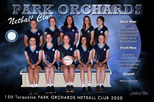 Park Orchards Netball Team Photo