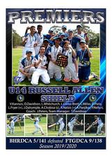 BHRDCA U14 Russell Allen Premiers poster