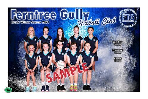 Ferntree Gully Netball Team Photo