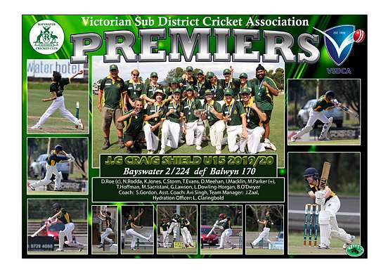 Bayswater Craig Shield Premiers poster
