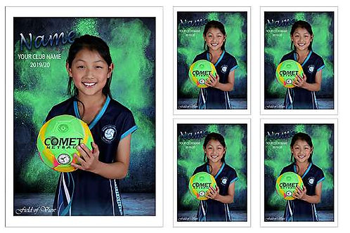 Park Orchards Netball Player Portrait – 5 in 1 Pack